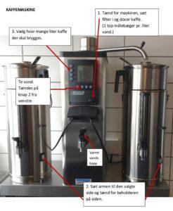 Billede af vejledning til industrikaffemaskine