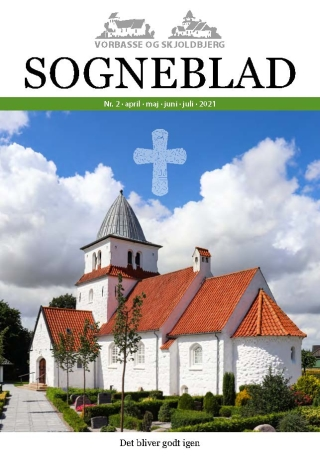 Skjoldbjerg kirke på forsiden af Sogneblad nr. 2 - 2021